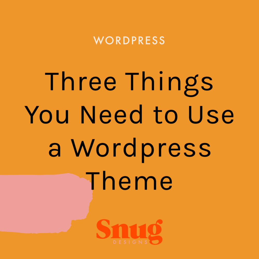 Three Things You Need to Use a WordPress Theme