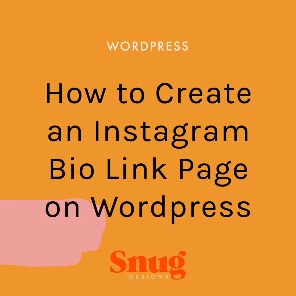 How to Create an Instagram Bio Link Page in WordPress