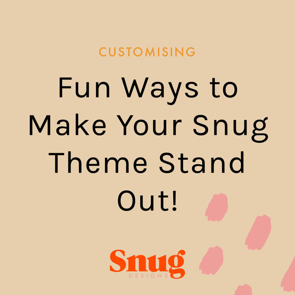Fun Ways to Make Your Theme Stand Out